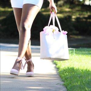 JustFab Shoes - Artessa Wedge - JustFab - 7.5 Blush Pink